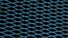 Blue Diamod Metal Pattern Frame - 25FPS PAL Stock Footage