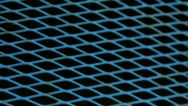 Stock Video Footage of Blue Diamod Metal Pattern Frame - 25FPS PAL