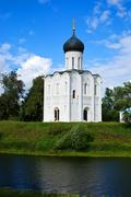 Church of  Intercession on River Nerl Stock Photos