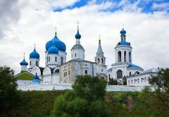 Orthodoxy monastery in Bogolyubovo Stock Photos