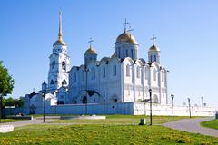 Dormition Cathedral in Vladimir - stock photo