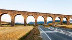 Aqueduct near Pamplona. Navarre Stock Photos