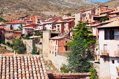 Stock Photo of picturesque residence  houses in Albarracin