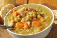 Split pea soup - stock photo