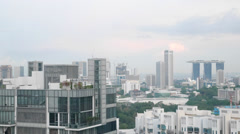 4k Ultra HD time lapse video of Cairnhill Road, Singapore.(TL--SG SKYLINE 15) - stock footage