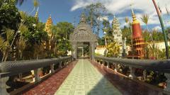 Buddhist pagoda timelapse Stock Footage