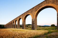 Acueducto in Navarre. Spain Stock Photos