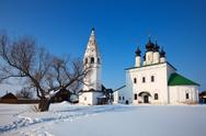 Stock Photo of Alexander's monastery at Suzdal in winter