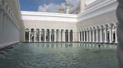 Sultan Omar Ali Saifuddin Mosque in Bandar Stock Footage