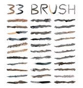 Dirty brushes Stock Illustration