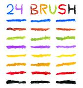 Brushes varied colors Stock Illustration
