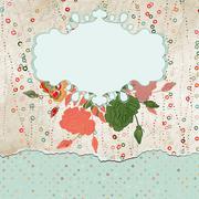 Romantic elegant floral with vintage roses. EPS 8 Stock Illustration