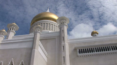 Sultan Omar Ali Saifuddin Mosque in Bandar Stock Footage