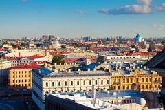 Top view of european city Stock Photos