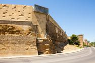 Stock Photo of City wall of  Huesca. Aragon