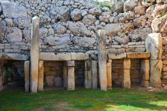 Ggantija neolithic  temples (3600 B.C.) - stock photo