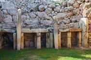 Stock Photo of Ggantija neolithic  temples (3600 B.C.)