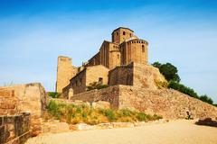 Castle of Cardona on sunny day Stock Photos