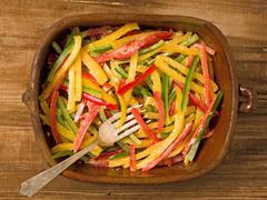 rustic capsicum salad - stock photo