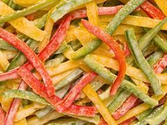 capsicum salad - stock photo