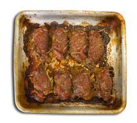 Baked stuffed beef Stock Photos