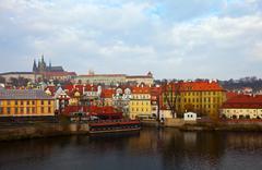 Prague from Vltava. Czech Republic Stock Photos