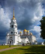 Assumption cathedral  at Vladimir in summer - stock photo