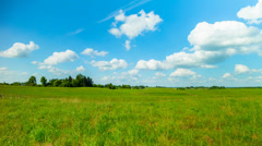 Summer landscape, panoramic time-lapse Stock Footage