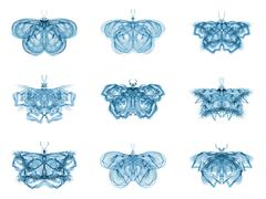 Stock Illustration of Metaphorical Fractal Butterflies