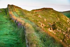 hadrian's wall, northumberland, england - stock photo