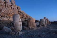 Monument of gods on nemrut mountain Stock Photos
