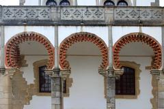 Closeup of Evora architecture - stock photo
