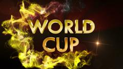 World Cup 3d Gold Text, with Final White Transition Stock Footage
