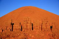 Monument of gods on nemrut mountain Stock Photos