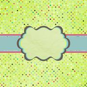 Bright retro scrap template. EPS 8 - stock illustration