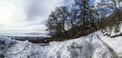 Winter landscape, Campo dei Fiori - Varese, Italy - stock photo