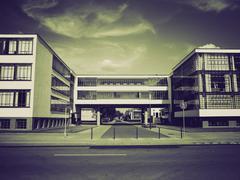 Stock Photo of Vintage sepia Modern architecture