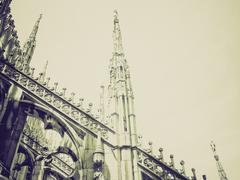 Stock Photo of Vintage sepia Duomo, Milan