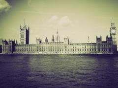 Stock Photo of Vintage sepia Houses of Parliament