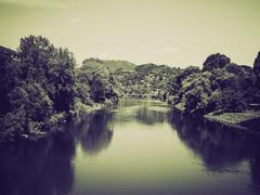 Stock Photo of Vintage sepia River Po, Turin