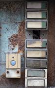 Old and damaged doorbells Stock Photos