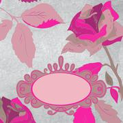 Vintage rose floral card (not auto-traced). EPS 8 - stock illustration