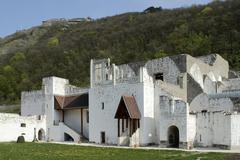Remains of the renaissance palace in Visegrad - stock photo