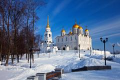 Assumption cathedral  at Vladimir in winter Stock Photos