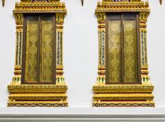 Windows of thai temple . Stock Illustration