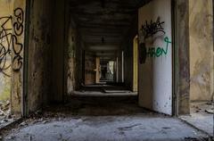 Long corridor - stock photo