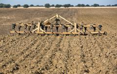 Seedbed cultivator-harrow - stock photo