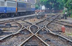 Railroad track - stock photo