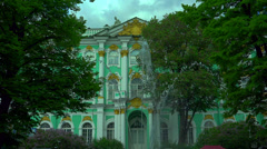 The fountain in the Winter Palace in St. Petersburg. 4K. Stock Footage