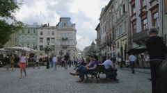Ukraine, L'viv city atmosphere .Timelapse. May 28, 2014 Stock Footage